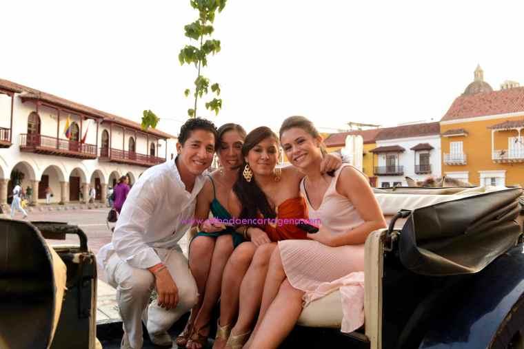 Mi Boda En Cartagena, paseo en coche_4
