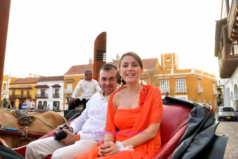 Mi Boda En Cartagena, paseo en coche_6