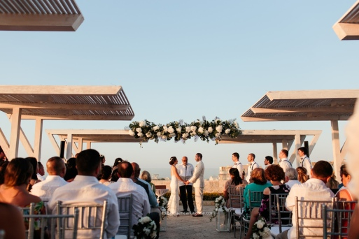 rooftop wedding in cartagena